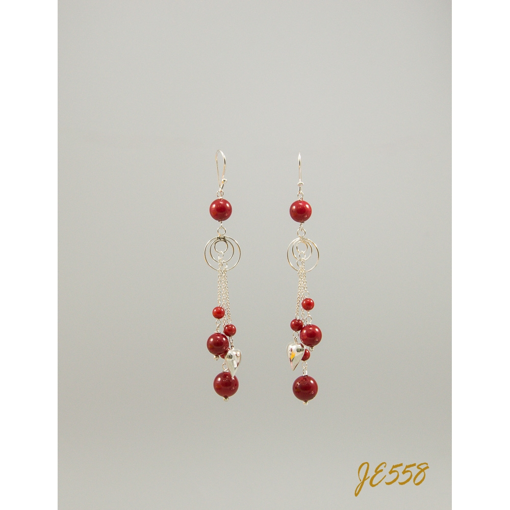 Je558 Red Agate Earring